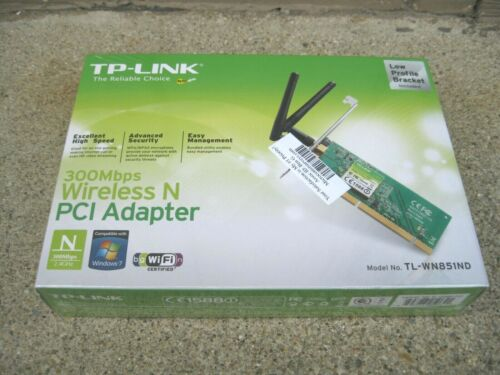 TP-Link TL-WN851ND 300Mbps Wireless N PCI Adapter New + Sealed Fast Ship