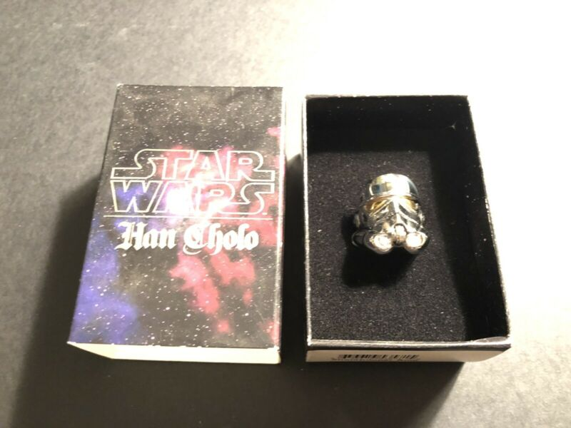 Han Cholo Star Wars Adult Mens  Stormtrooper Ring Stainless Steel size 10