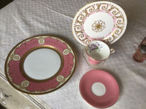Tiffany & Co Anysley 4 pc Victorian cup plate saucer server