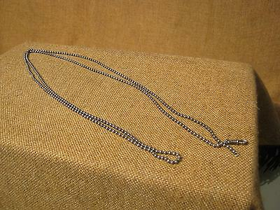 ███ Ancient Long Pocket Watch Chain / 800 silver um 1900 (15.12.14)