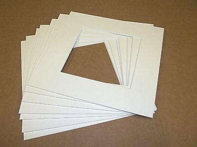 "Pack of 5 (8"" x 8"") 4-ply Acid Free White Precut Mats 4 3/4"" X 4 3/4"" CR Framing"