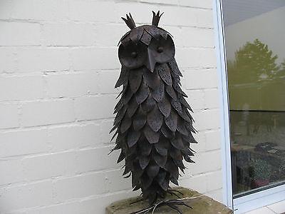Metall Skulptur ,Große Eule Vogel Greifvogel Greif, Lebensgroß, Kautz, Uhu