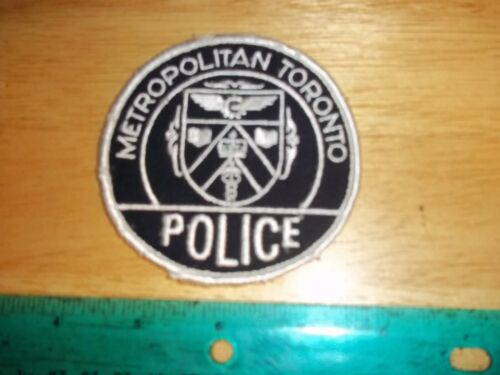 METROPOLITON TORONTO POLICE PATCH Enforcement Officer Security Ontario Canadian