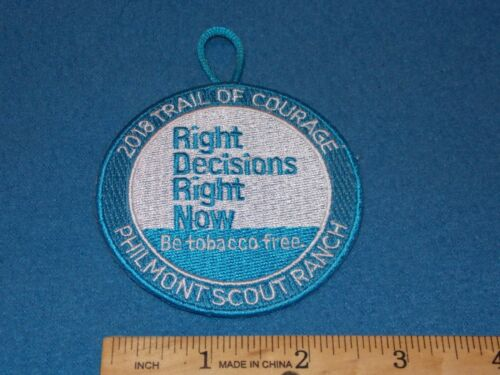 Boy Scout Tobacco Free Trail of Courage 2018 Philmont Scout Ranch Patch