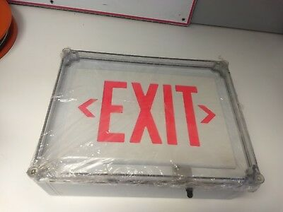 Hubbell-dual-lite Single Face Led Exit Sign Sewlsrwe