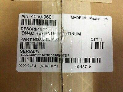 New Open Box Simplex 4009-9601 Repeater Platinum Panel Fire Alarm