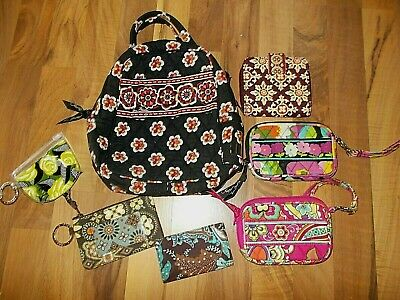 VERA BRADLEY black lunchbox small change purse wallet lot FREE SHIP USA