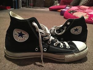 High Top Black and White Converse Sneakers US Size 10 Hope Island Gold Coast North Preview