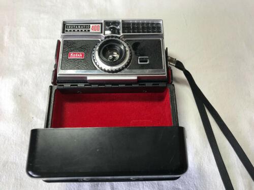 Kodak Instamatic 400 Camera With Attached Case