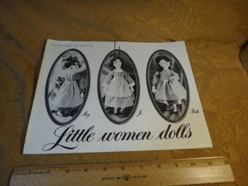Vintage 1963 Little Women Dolls To Make From Woman