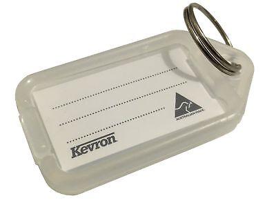 50 Kevron Clear Plastic Key Tags Office Estate Agent Car Dealer Hotel Labels New