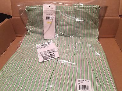 NWT Ralph Lauren Women's Striped Cotton Green Passion Pink Pajama Shorts ADORBS!