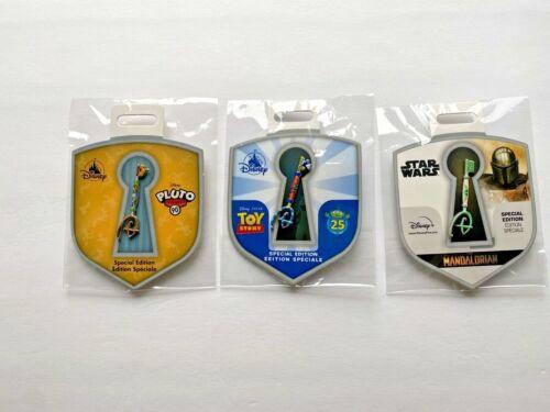 Disney Store Key Pin Bundle Toy Story, Star Wars, Pluto