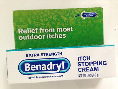 BENADRYL EXTRA STRENGTH ITCH/PAIN RELIEF CREAM 1oz. (28.3g) FAST POST 05/21