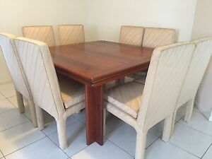 Custom made / bespoke, Solid Red Cedar Dining Table and Chairs Wynnum West Brisbane South East Preview