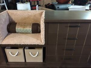 Beautiful handcrafted one of a kind seat dresser
