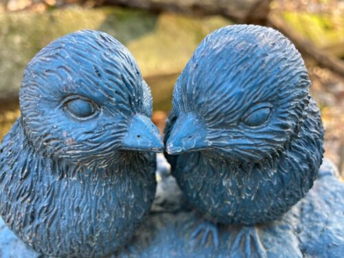 Love Birds Kissing Hidden Stash Box Art Sculpture Unique RARE Collectible Heavy