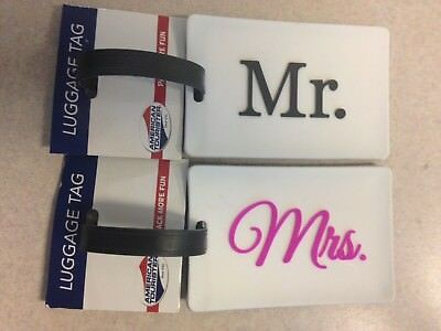 Luggage Tags Mr.& Mrs. American Tourister New Lot 2