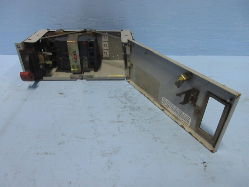 """General Electric GE 8000 40 Amp Breaker Type 6"""" MCC Feeder Bucket 40A THED136040"""