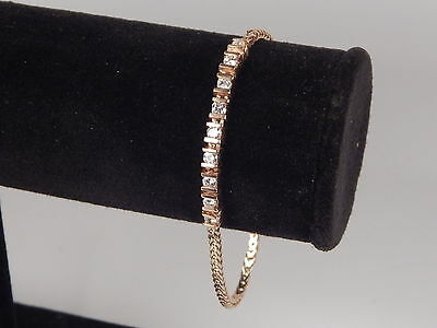 "14K YELLOW GOLD LADIES DIAMOND BRACELET SIZE 6 1/2""  WEIGHING 6.7 GRAMS"