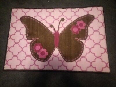 Bacati Baby Butterflies Pink And Brown Rug ](Butterfly Rug)