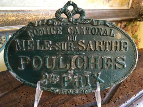 French Second Place Award Plaque Pouliches Fillies Horse Racing