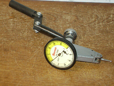 Starrett .0001 Inch Dial Indicator No 708b W Gooseneck-dog Leg Indicator Holder
