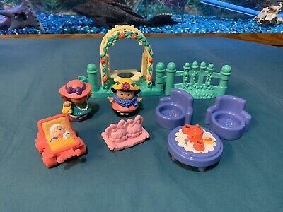 Fisher Price Little People Garden Party Lot Of 9