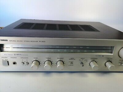 Vintage Yamaha Natural Sound R-300 Stereo Receiver Silver Wood Grain (READ INFO)