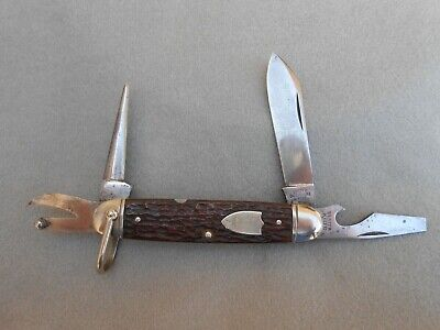 OLD VTG ULSTER DWIGHTDIVINE & SONS BE PREPARED OFFICIAL BOY SCOUT KNIFE #1502