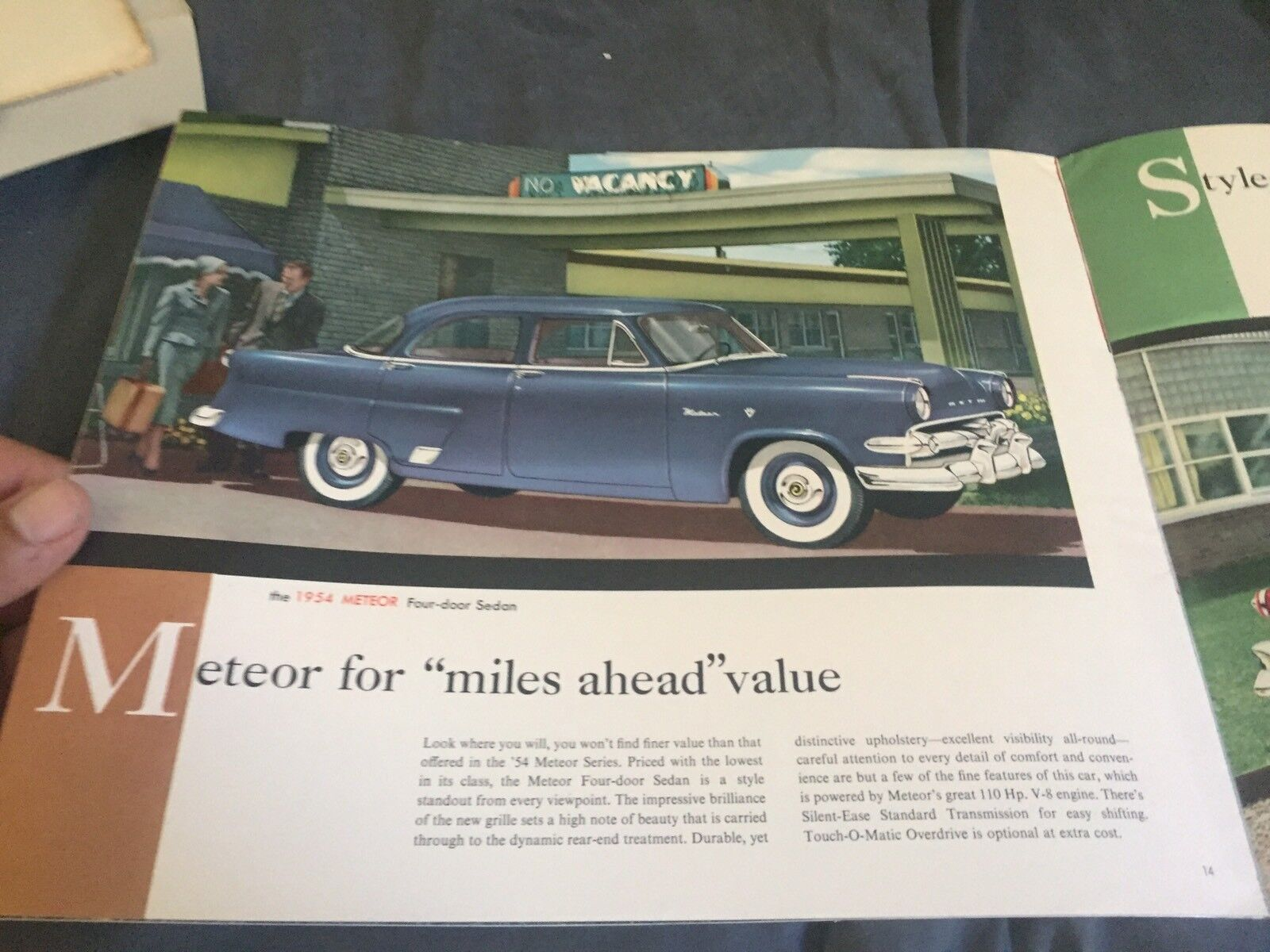 1954 canadian ford mercury meteor full line color brochure catalog prospekt picclick ca. Black Bedroom Furniture Sets. Home Design Ideas