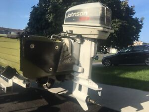 30 hp Johnson outboard with all controls
