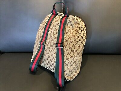 Pre-Owned Gucci Canvas Backpack with Signature Web Straps