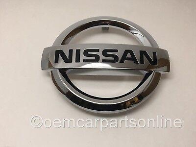 OEM 2015 2016 2017 Nissan Front Grille Emblem Versa Sedan Chrome Nameplate Plate Oem Chrome Grille