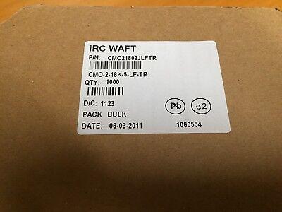 Irc Waft Cmo21802jlftr Metal Oxide Resistors 2w 18k Ohm 5 1000pcs 1 Lot
