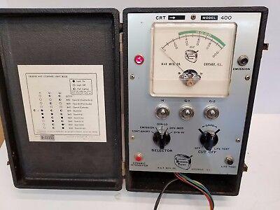 Vintage B K Model 400 Cathode Ray Tube Tester Rejuvenator