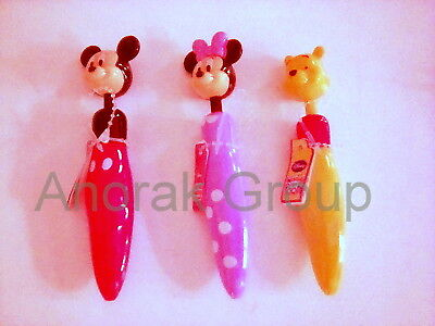 DISNEY 6 Mickey 5 Minnie Mouse 7 Winnie the Pooh Pens Party 18 Stationery Bundle](Classic Minnie Mouse Party Supplies)