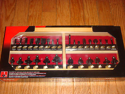 "Skil 30pc Carbide Tipped Router Bit Set with 1/4"" shanks & Wood State #91030"