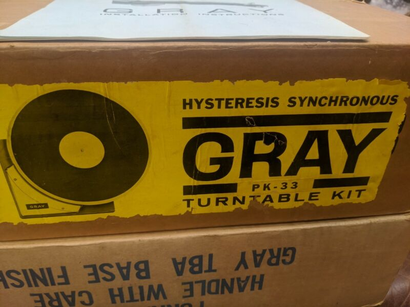 Gray Research PK-33 Turntable Kit with Gray 303 tone arm BRAND NEW!!!