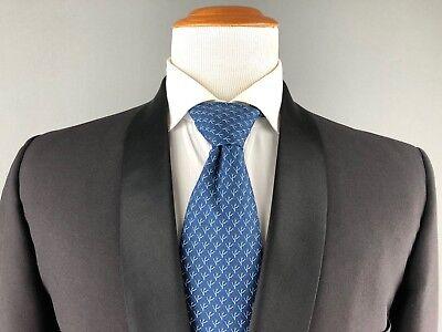 Eine Form Kragen (Vtg Lord West Schwarz Schalkragen ein Knopf Smoking Formelle Hochzeitsanzug)