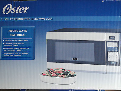 Oster OGZB1101 Countertop Microwave Oven 1000 Watts 1.1 cu ft