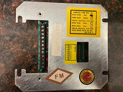 Simplex 4100 Fire Alarm Addressable Module Monitor Zam 2190-9155