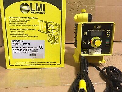 Lmi Metering Pump B931-362si 4.5 Gph 50 Psi Pvdf Ma Control