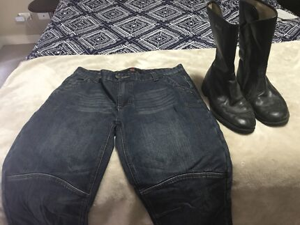 Wanted: Spider riding boots slightly used &Torque riding pants brand .