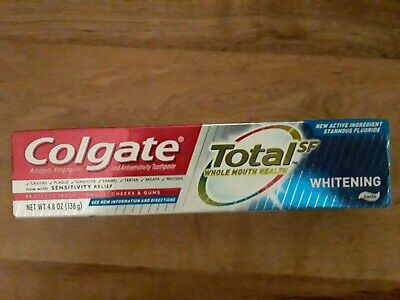 BEST PRICE- Colgate Total SF Whitening Toothpaste, 4.8oz each