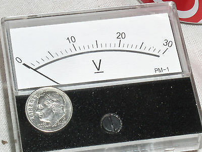 New 30 V Dc 30v Vdc Dc Volt Analog Volts Mirror Scale Panel Meter Rv Voltmeter