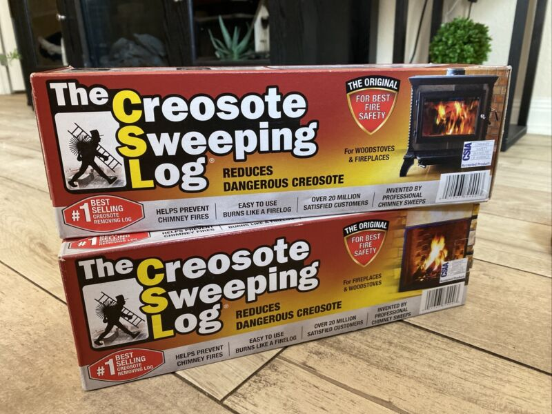 Creosote Sweeping Log Fireplace/ Woodstove/ Chimney Cleaner SL-824-12. PACK OF 2