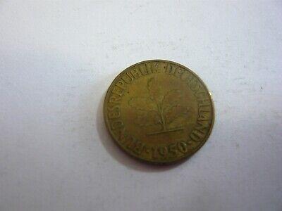 Rfa 5 pfenning pièce mark allemagne germany 1950 G