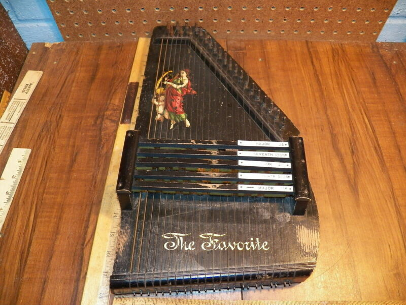 "Vintage ZIMMERMAN Autoharp ""THE FAVORITE"""
