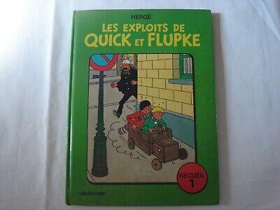 Les Exploits de Quick et Flupke-Recueil 1-Réédition 1975 dernier titre Vol 714